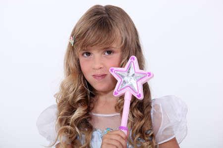 ringlet: portrait of a little girl in fairy costume Stock Photo