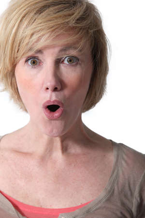 contracted: surprised woman