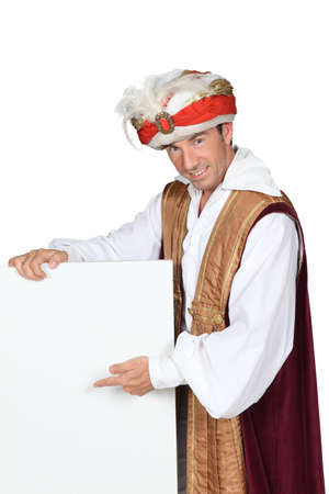 turban: portrait of a man in costume Stock Photo