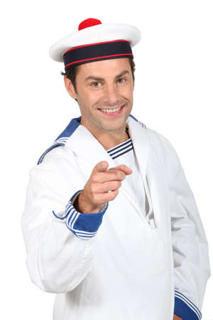 Man in a sailor costume photo