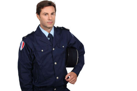 respecting: French policeman