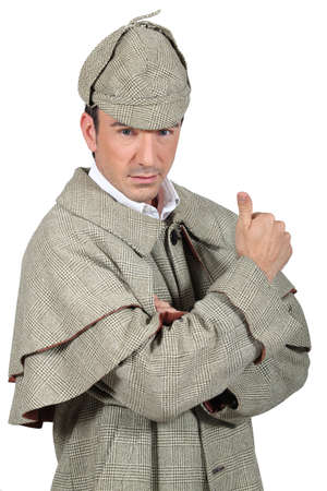 man in Sherlock Holmes costume photo