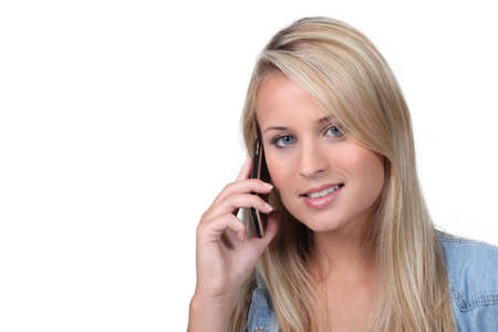 voicemail: young having phone call