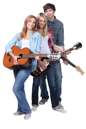 Guitarristas j�venes Foto de archivo - 14106630