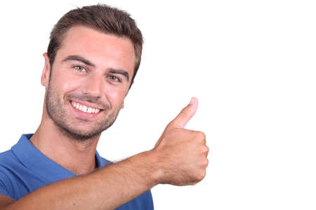 gratify: guy with thumbs up