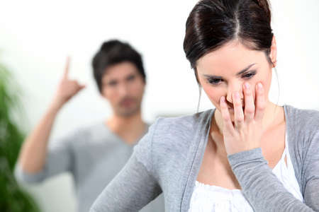 strife: Domestic violence Stock Photo