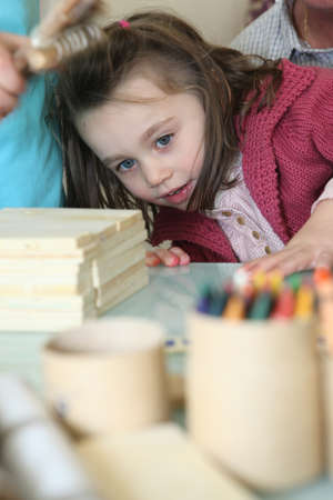 Little girl playing photo