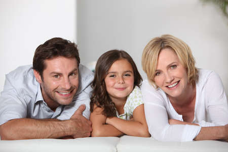 Parents with daughter photo