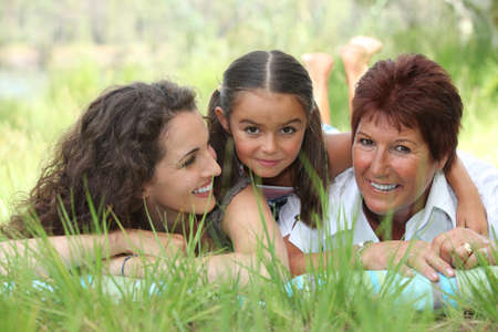 three generations of women: portrait of 3 generations