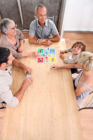 paternal: Family board game Stock Photo