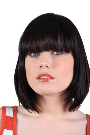 Closeup of a woman with a bobbed haircut Stock Photo - 14110315