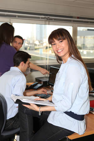 Smiling woman with an office diary Stock Photo - 14195027