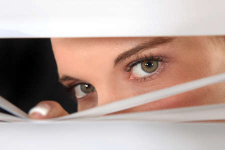 eyes hidden: Is he cheating? Stock Photo