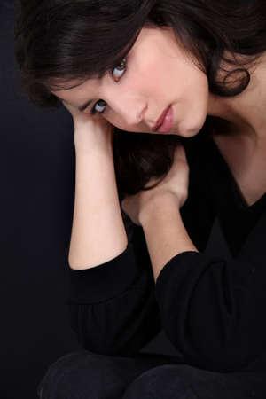 beauteous: close-up portrait of gorgeous brunette