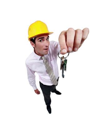 Estate-agent dangling keys photo