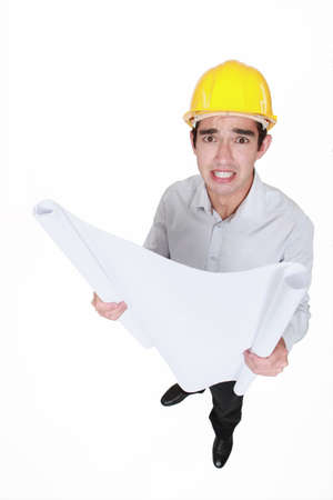 hat project: Confused architect Stock Photo