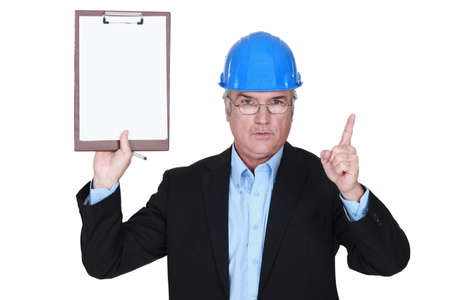 Safety inspector with clipboard Stock Photo - 14178591