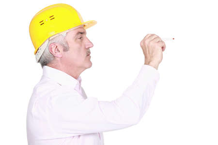 A mature architect knocking. Stock Photo - 14193584