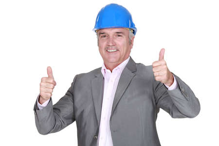 Thumbs up from an architect Stock Photo - 14195482