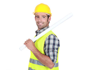 A architect standing sideway. Stock Photo - 14194452
