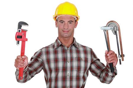 banter: Craftsman tools hand Stock Photo