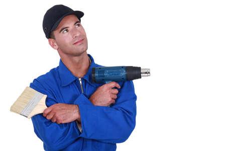 yourselfer: Handyman on white background
