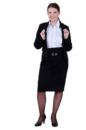 black belt: Portrait of a business professional Stock Photo
