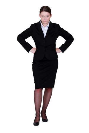 exasperate: Stern businesswoman
