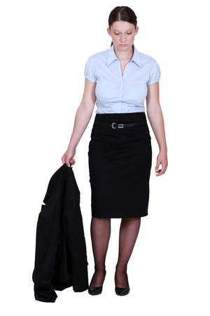 woman in a suit looking very sad Stock Photo - 14193429