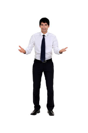 Businessman asking question Stock Photo - 14193282