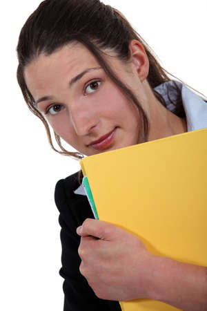 Office worker with folder photo