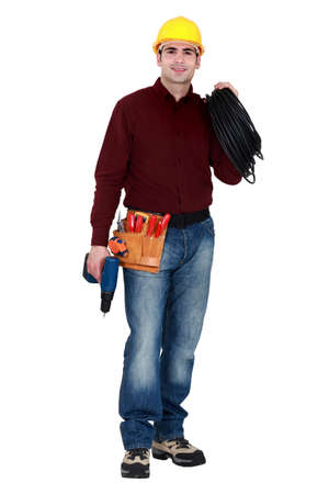 Full-length portrait of a tradesman Stock Photo - 14194458