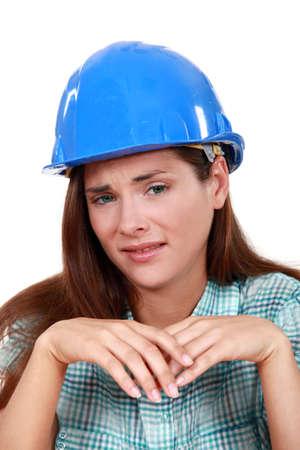 craftswoman crying Stock Photo - 14194891