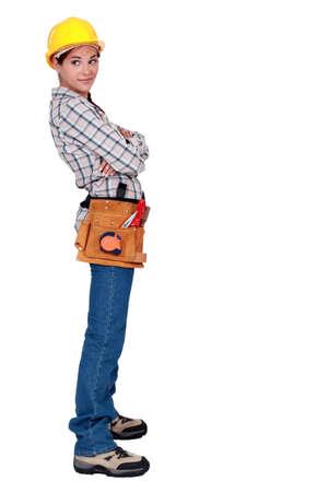 yourselfer: Confident handywoman Stock Photo