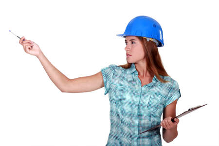 A female foreman. Stock Photo - 14195381