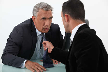 Two businessmen arguing photo