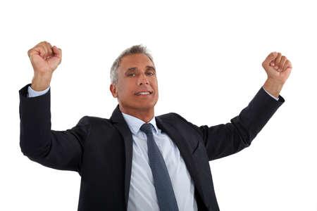 Businessman rejoicing Stock Photo - 14195314