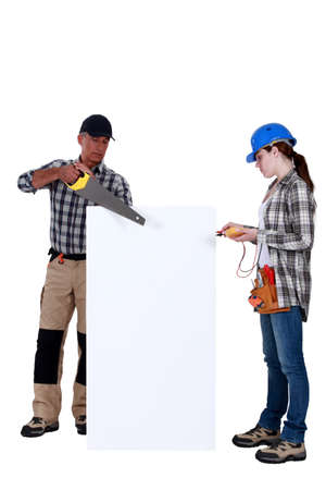 Carpenter and electrician photo