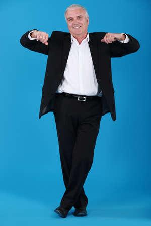 Portrait of a happy businessman photo