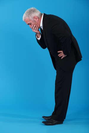 congenial: Shocked senior businessman Stock Photo