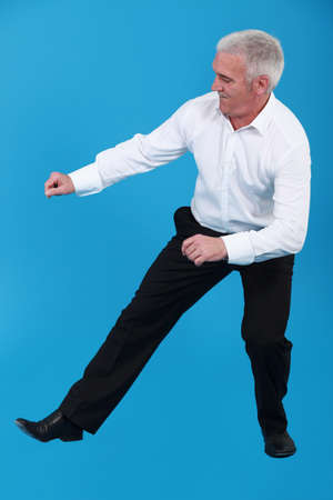 danced: Elderly man dancing