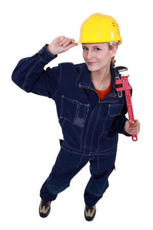 A female plumber. photo