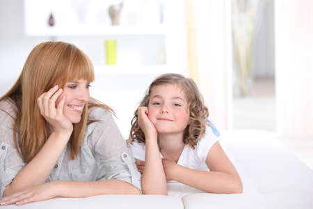babysitting: Mother spending quality time with her daughter