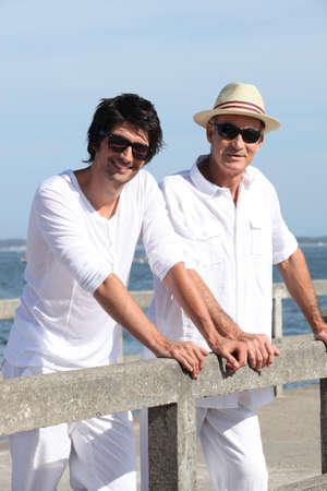 homem: Pai e filho estavam no cais