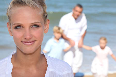 couple with kids on vacation Stock Photo - 14213101