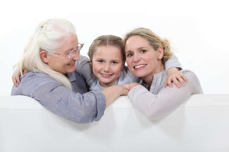 three generations: Three generations of women