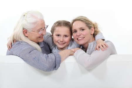 three generation: Three generations of women