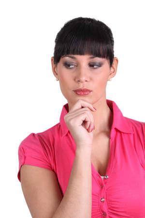 rubbing noses: A suspicious woman