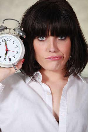 Portrait of a cranky woman photo