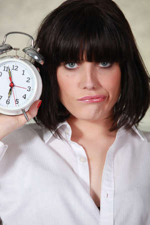 time out: Portrait of a cranky woman